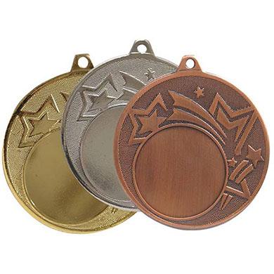 Медаль наградная золотого, серебряного и бронзового цвета